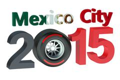 F1 Formula 1 Grand Prix in Mexico City 2015 Piirros