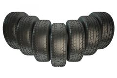 Group of automotive tires Piirros