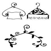 Igh quality original set of hangers for model house, sales or ot Stock Illustration
