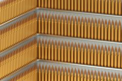 Many bullets from rows Stock Illustration