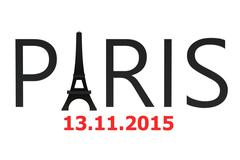 Paris attacks november 2015 concept Stock Illustration