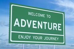 Welcome to adventure concept Stock Illustration