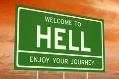 Welcome to Hell concept Stock Illustration