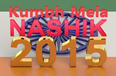 Kumbh Mela at Nasik 2015 concept Stock Illustration