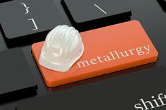 Metallurgy  concept on keyboard button Stock Illustration