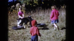 1960: a goat is seen being pet WAUCONDA, ILLINOIS Stock Footage