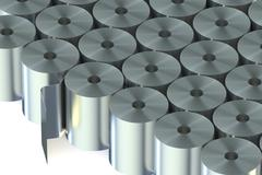 Stainless Steel Coils closeup Stock Illustration