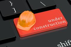 Under Construction concept on keyboard button Stock Illustration
