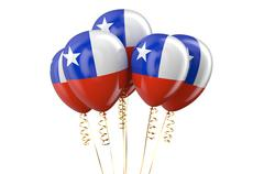 Chile patriotic balloons holyday concept Stock Illustration