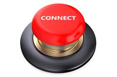 Connect red pushbutton Stock Illustration