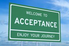 Welcome to Acceptance concept Stock Illustration
