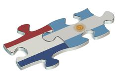 Argentina and Netherlands puzzles from flags Piirros
