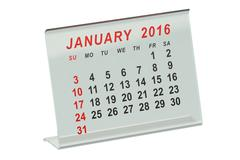 January 2016 desk calendar Stock Illustration