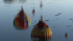 Hot Air Balloon Reflections In Yakima River Stock Footage