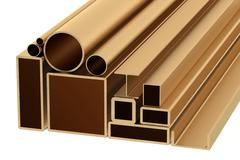 Stack of Copper Rolled Metal Products Stock Illustration