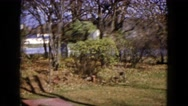 1960: backyard summer view right to winter view WAUCONDA, ILLINOIS Stock Footage