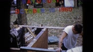 1960: putting together the new deck in the backyard of the house. WAUCONDA Stock Footage