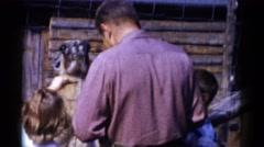 1959: a zoo scene CATSKILL GAME FARM, NEW YORK Stock Footage