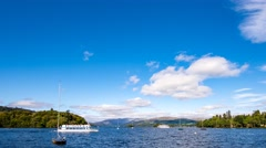 Lake Windermere, Cumbria 4K 25fps.mp4 Stock Footage