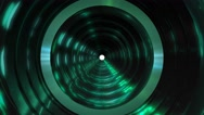 Fantasy space tunnel fly through Stock Footage