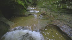 Tranquil Stream Through Rock Gorge Canon 1Dc Stock Footage