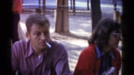 1959: a smoking man is seen CATSKILL GAME FARM, NEW YORK Stock Footage