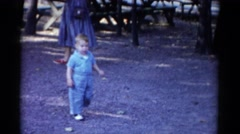 1959: a child is seen CATSKILL GAME FARM, NEW YORK Stock Footage