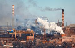Steel mill, Metallurgy plant. Heavy industry factory Kuvituskuvat