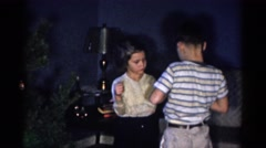1959: children playing with each other CATSKILL GAME FARM, NEW YORK Stock Footage