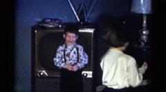 1959: i wanna help too.. CATSKILL GAME FARM, NEW YORK Stock Footage