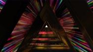 Fantasy mystical triangle tunnel fly through Stock Footage