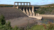 Hydro Electric Water Dam on River. Stock Footage