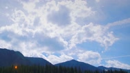 Panning Mountain Clouds Time Lapse Stock Footage