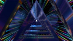 Fantasy mystical triangle tunnel fly through Stock Footage
