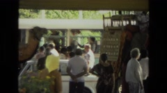 1974: a camel ride seen INDIA Stock Footage