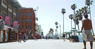 Venice Beach Boardwalk - People Walking Stock Footage