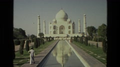 1974: tajmahal is seen INDIA Stock Footage