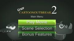 CI0000100- Cartoon DVD Menu - Main Menu Stock Footage