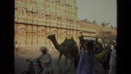 1974: a tourist area is seen in india INDIA Stock Footage