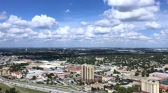 Lowering Aerial View Over San Antonio and Interstate 37   Stock Footage