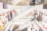 Abstract blur shopping mall interior Stock Photos