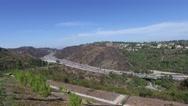 Beautiful views of the 405 freeway Los Angeles California Stock Footage