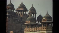 1974: a monument is seen having a high tower INDIA Stock Footage
