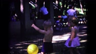 1963: boy throws away balloon COLD SPRINGS, NEW YORK Stock Footage