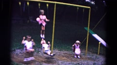 1963: swinging children COLD SPRINGS, NEW YORK Stock Footage