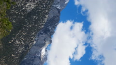 Time Lapse of Heavenly Clouds at Mount Whitney in Sierra Nevada -Vertical/Pan- Stock Footage