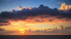 Scenic sunrise over ocean in Hollywood, Miami, Florida. 4K UHD Timelapse Stock Footage