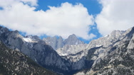 Time Lapse of Heavenly Clouds at Mount Whitney in Sierra Nevada -Zoom Out- Stock Footage