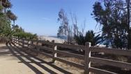 Camera in the park near the ocean Santa Monica, California Stock Footage