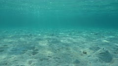 Sand underwater on shallow seabed Pacific ocean Stock Footage